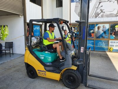 Congratulations to Anthony for getting his forklift licence!